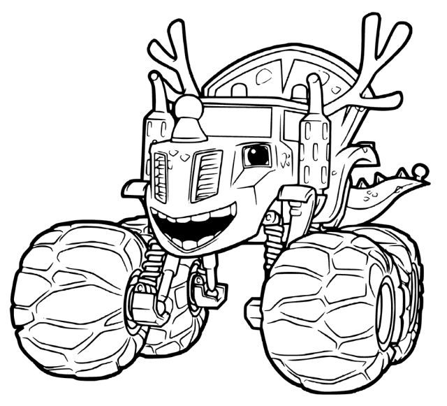 207 best images about free coloring pages for kids on for Printable blaze coloring pages