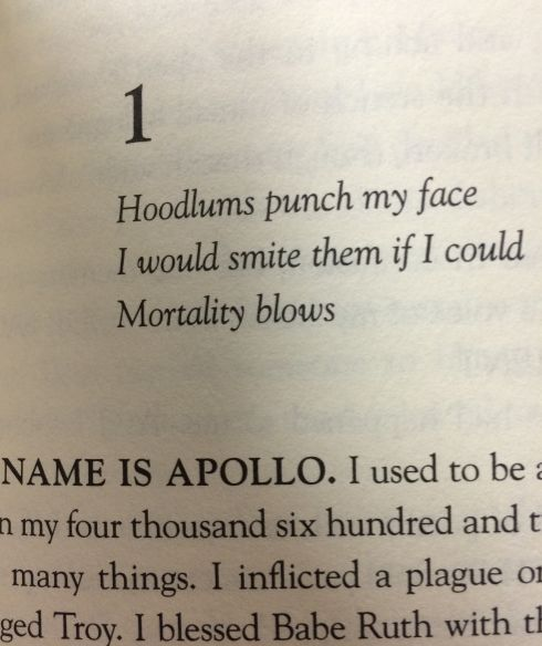 GUYS THE TRIALS OF APOLLO CHAPTER TITLES ARE ALL HAIKUS * I can't  handle  this! I won't  & can't  rest until  I  have  this  book in my hands  *