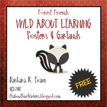 FREEBIE for your forest themed classroom decor.