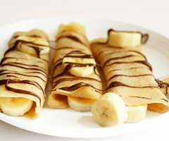 Nutella and banana crepes. Best food in the world.