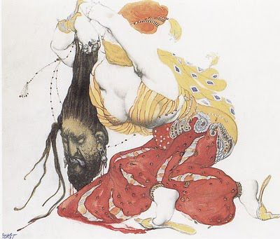 """Leon Bakst, """"Judith with the Head of Holofernes,"""" 1922"""