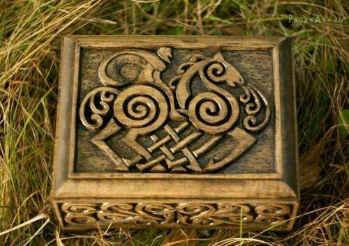 Odin ¤ Sleipnir carved chest ¤