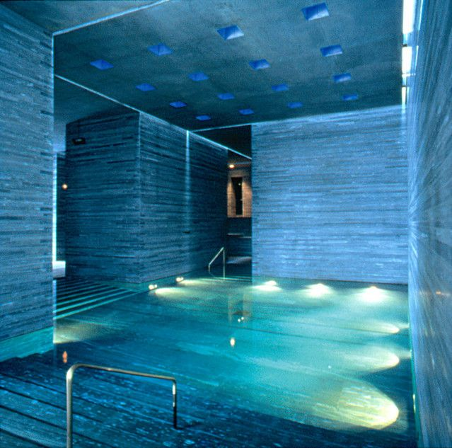 Swiss designers of spas tate modern follow le corbusier for Design hotel vals