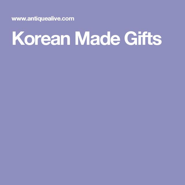 Korean Made Gifts