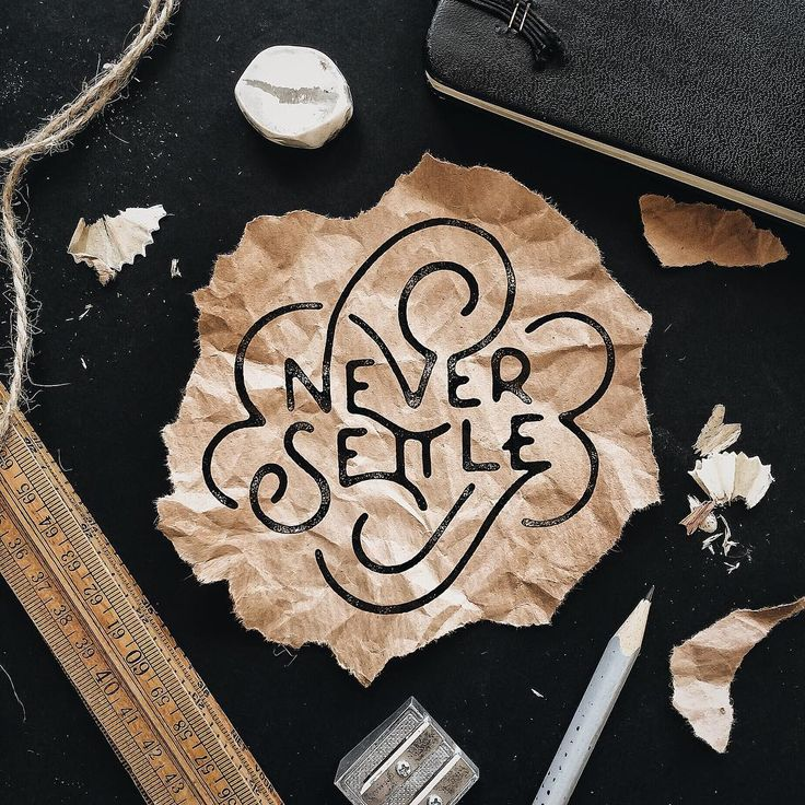 Oh, love the swerving swirl hand lettering here, as well as the photography and composition of the background <3 #typography