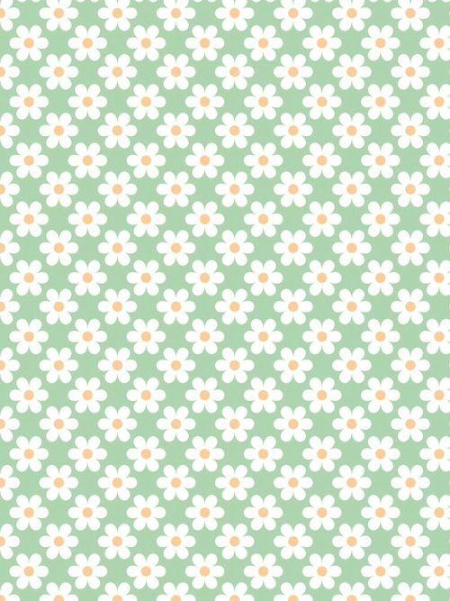 Flower Pattern Green BackgroundsIphone BackgroundsWallpaper WallpapersPastel