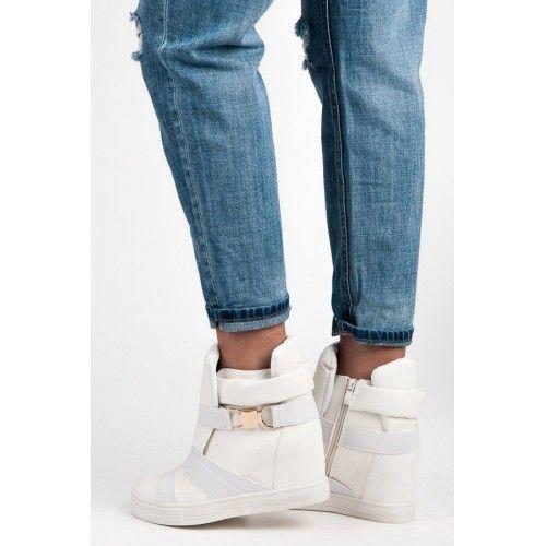 Dámské boty se skrytým klínkem Kayla Velena bílé – bílá Ani tenisky, ani kozačky! Ale naprosto dokonalé boty, které mají skrytý klín, takže zůstanete v pohodlí, ale zároveň si přidáte pár centimetrů. Boty se zapínají …