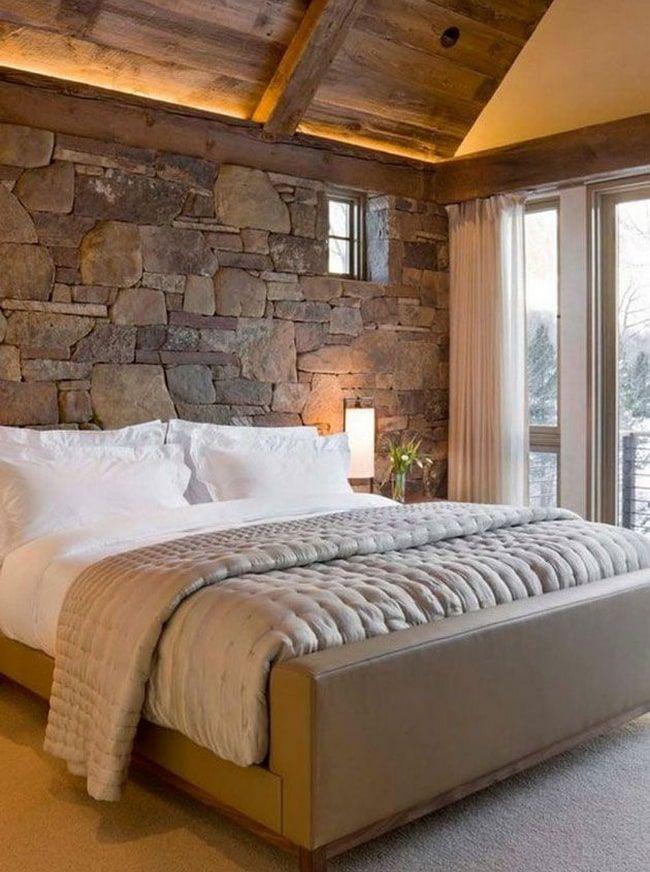 Rustic Bedroom Design, Rustic Bedroom Furniture, Farmhouse Master Bedroom, Master Bedroom Design, Bedroom Wall, Bedroom Decor, Master Bathroom, Bedroom Ideas, Cozy Bedroom