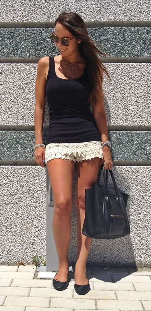 26 Stunning Outfit Ideas With Lace Shorts - Outfit Ideas HQ