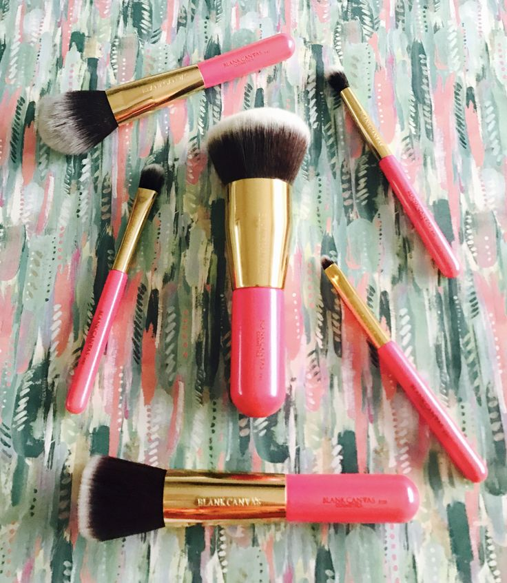 Makeup brushes from blank canvas cosmetics