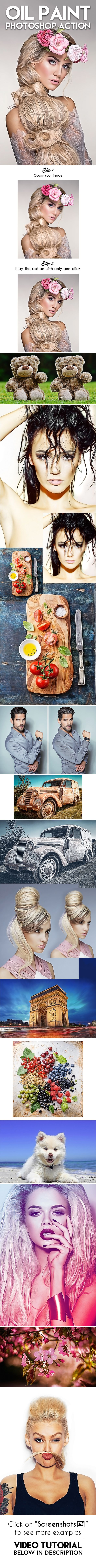 Oil Paint Photoshop Action - Photo Effects Actions Download here: https://graphicriver.net/item/oil-paint-photoshop-action/19692319?ref=classicdesignp