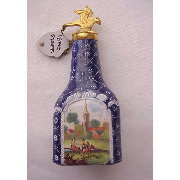 English Enamel Staffordshire Scent / Perfume Bottle - Circa 1765