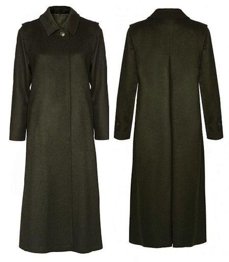 Schneiders Salzburg Womans Wool Long Coat Style DIANA in Dark Olive [DARK GREY]