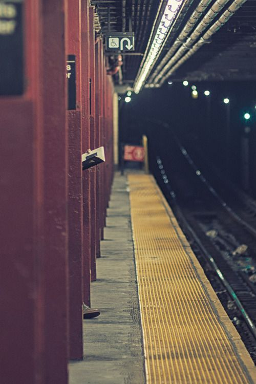 Waiting for subway, NYC
