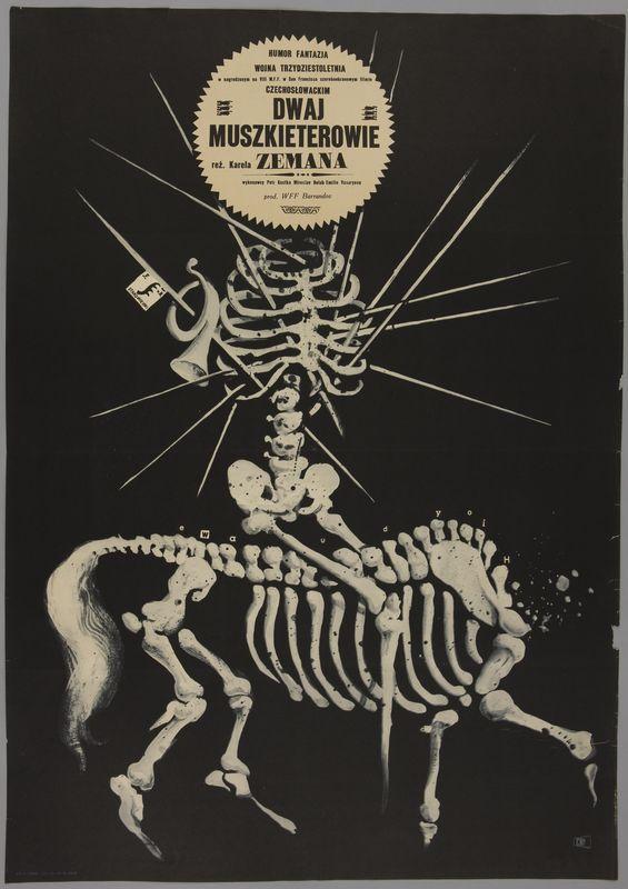 Franciszek Starowieyski, Dwaj muszkieterowie, 1965 // Two Musketeers Plakat z kolekcji Konrada K. Pollescha zakupiony do zbiorów MNK w 2013 r.   #plakat #poster #starowieyski