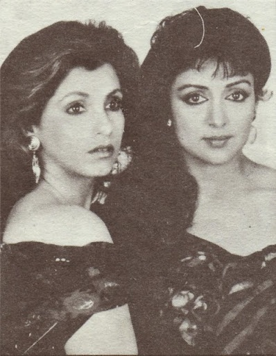 Dimple Kapadia and Hema Malini in a magazine shoot