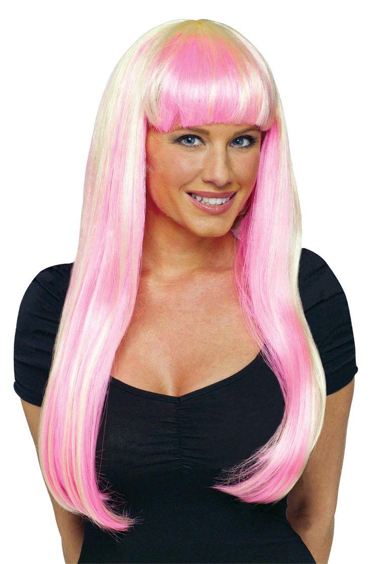 Wig Natural N Neon Pink-blonde