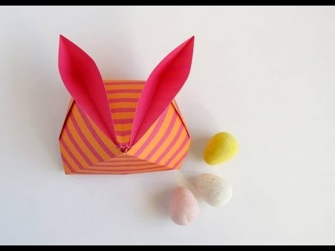 ORIGAMI SPIRIT Layla Torres | Bunny Container -Caja conejo | Instructions: http://www.origamispirit.com/2012/04/confession-of-a-passionate-origami-enthusiast/