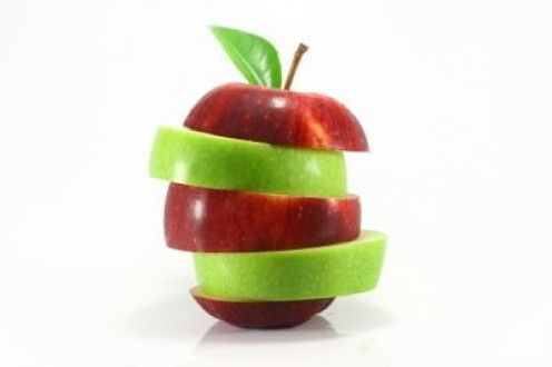 Five sentences about apple fruit with few more interesting facts and tips about health benefits of apples.