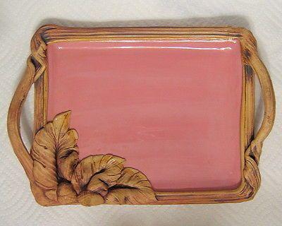 Studio Art Pottery Serving Tray Hand Built Slab Ceramic