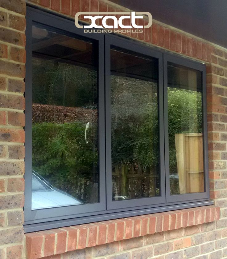 XACT Aluminium Window Contemporary Style in RAL7015 supplied to a property in Haslemere, Surrey.