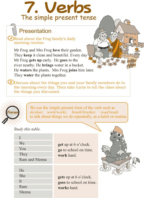 Grade 3 Grammar Lesson 7 Verbs – the simple present tense