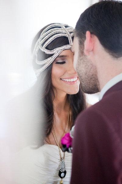 Art Deco style wedding headpiece