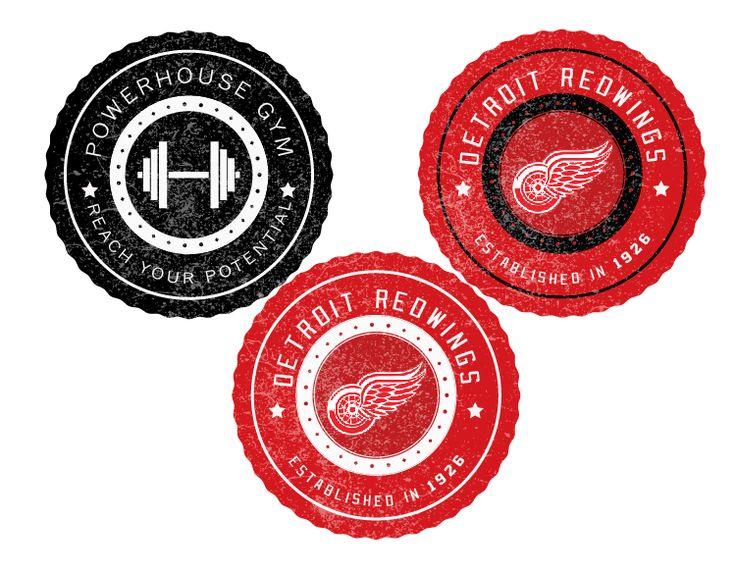 Retro Style Badges