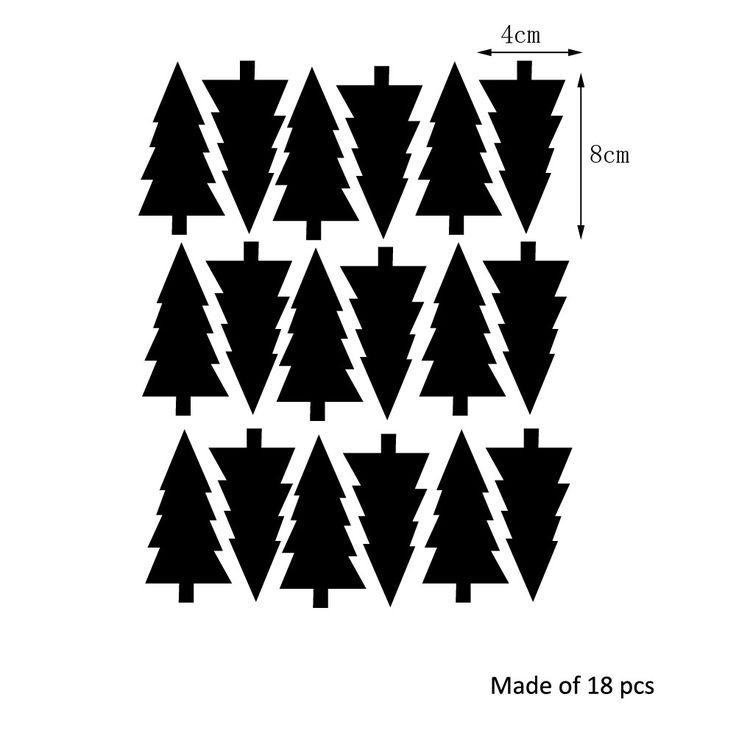 2016 Desenho de plantas de árvore de Natal Decalques de parede removíveis para Decorações de feriados do festival Estanques de cartazes de parede LV043