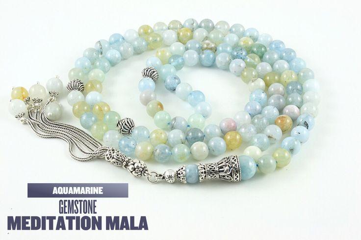 Aquamarine mala. #meditation #mala #malabeads #aquamarine