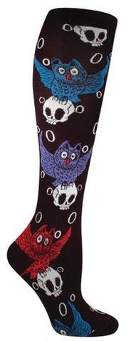 Owl and Skull Socks