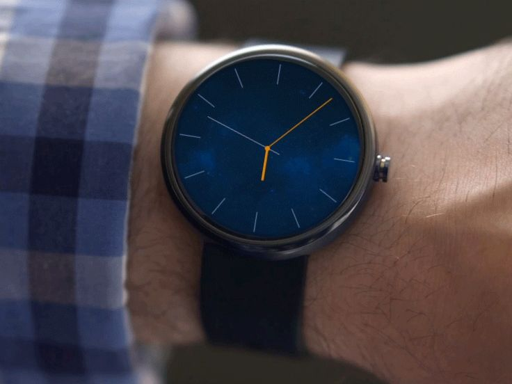 Android Wear - Clock App [GIF]