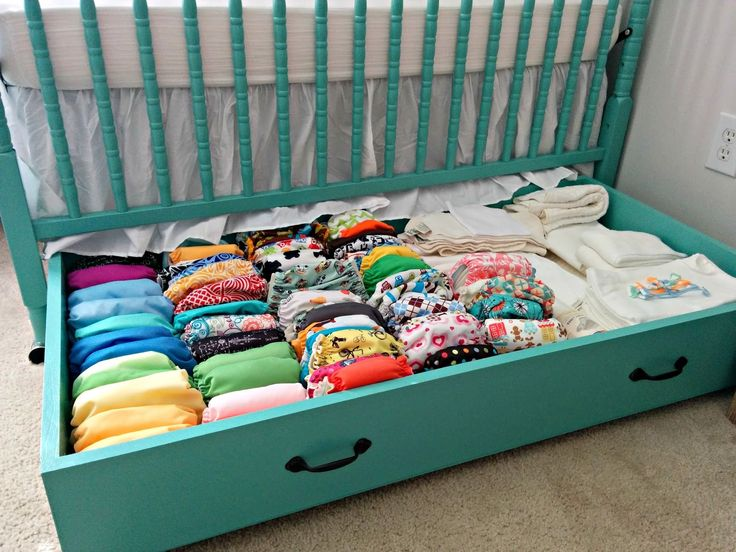 Cloth Diaper Revival: DIY Crib Drawer {FREE PLANS}