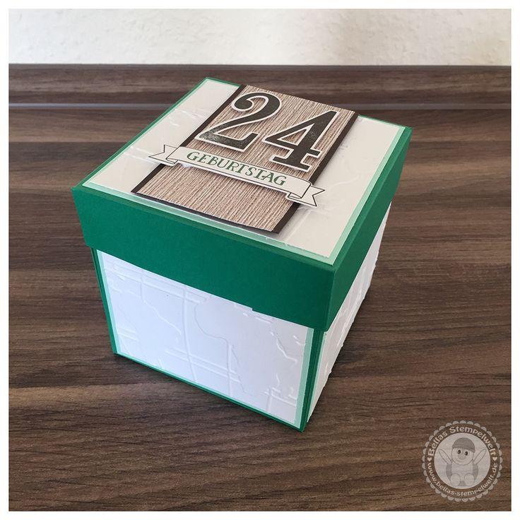 Stampin' Up! - Explosionsbox als Reisegutschein für einen Wochenendausflug nach Köln - Bellas Stempelwelt - Reisegutschein Geburtstag Explosionsbox