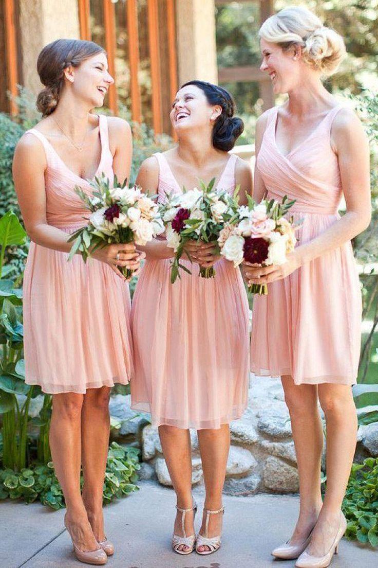 Brova Sleeveless A-line Chiffon Bridesmaid Dresses - by OKDress UK