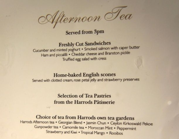 At harrod 39 s anglophile afternoon tea pinterest teas for Tea party menu template