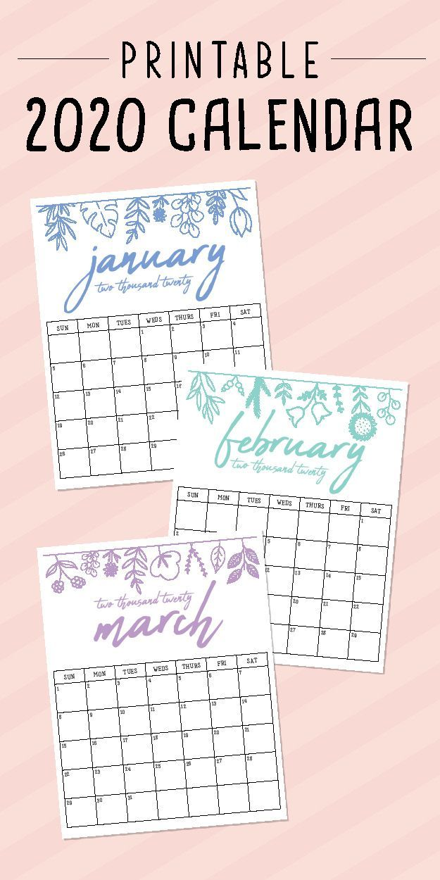 Most Current Photos 2020 Calendar Printable Strategies Calendar