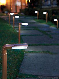 Solar Driveway Lights (set of 4) | No installation, no wiring! Just stake these lights in the sun