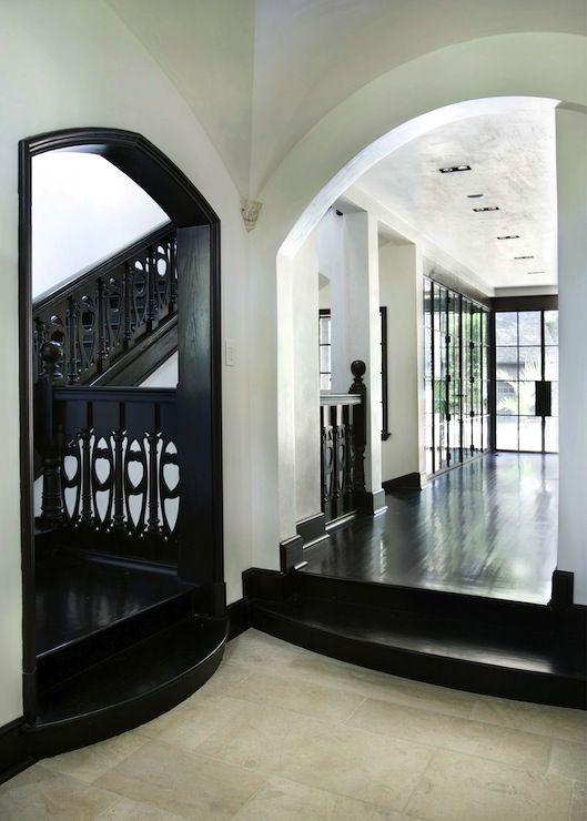Black Hardwood Floor gorgeous home interior design with black hardwood flooring foxy image of home interior flooring using Hammersmith Historic Home Black Hardwood Floors Art Nouveau Railings