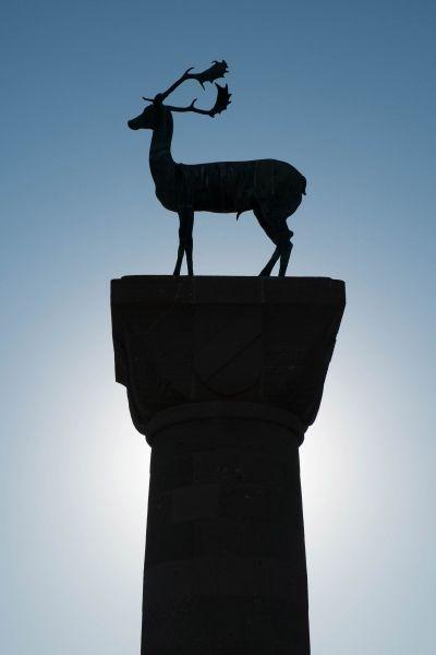 Deer statue at Mandraki port, Rhodes Old Town