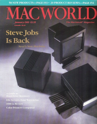 "NeXT Computer reprint from MacWorld January 1989 ""Steve Jobs Is Back""."