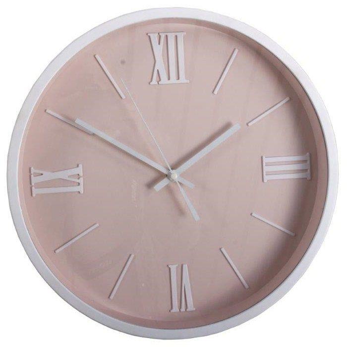 Różowy zegar Pastel PINK w kolorze pastelowo-różowym - NieMaJakwDomu / rose quartz