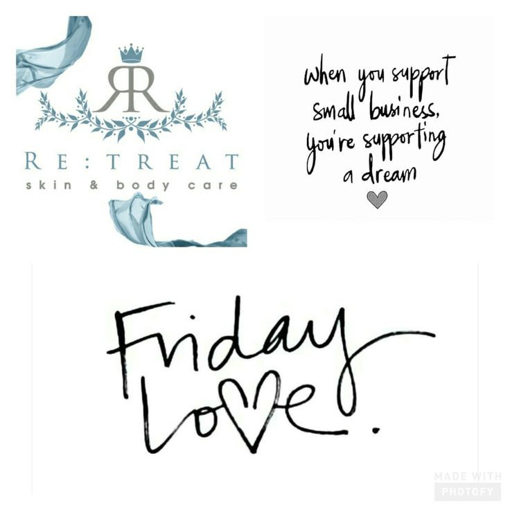 Happy Friday and thank you for your support the team at Re:treat skin & body care