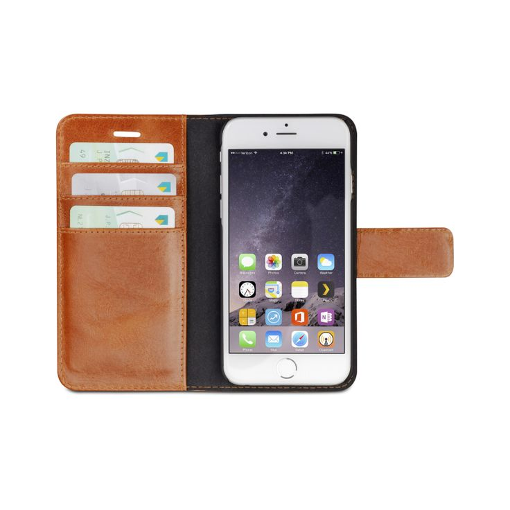 """Lynge"" has a loose cradle that is secured in the wallet part of the cover with magnets, this means you can leave the leather & creditcards in your pocket while you use the phone."