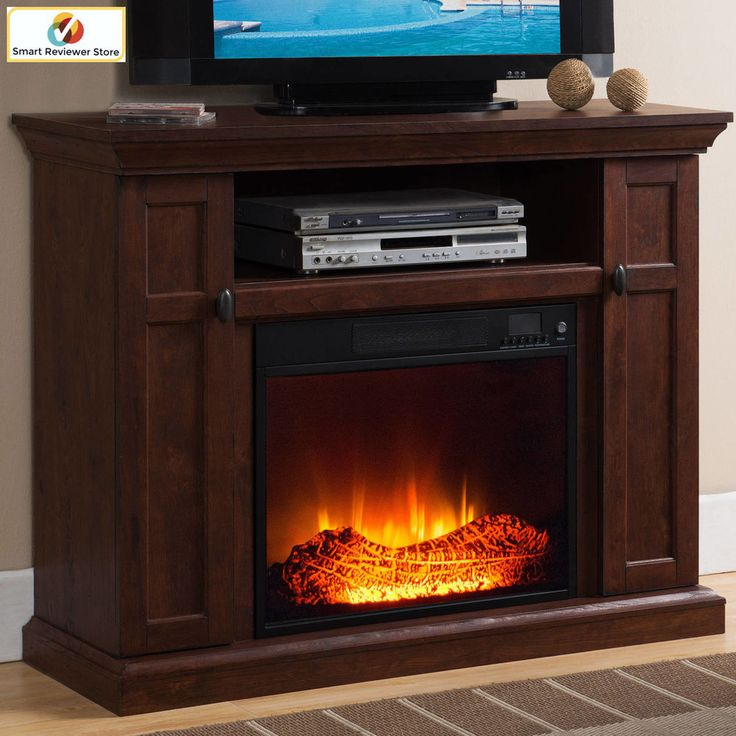 46 Inch TV Stand With Fireplace Media Console Electric Entertainment Center SALE #Prokonian #Modern