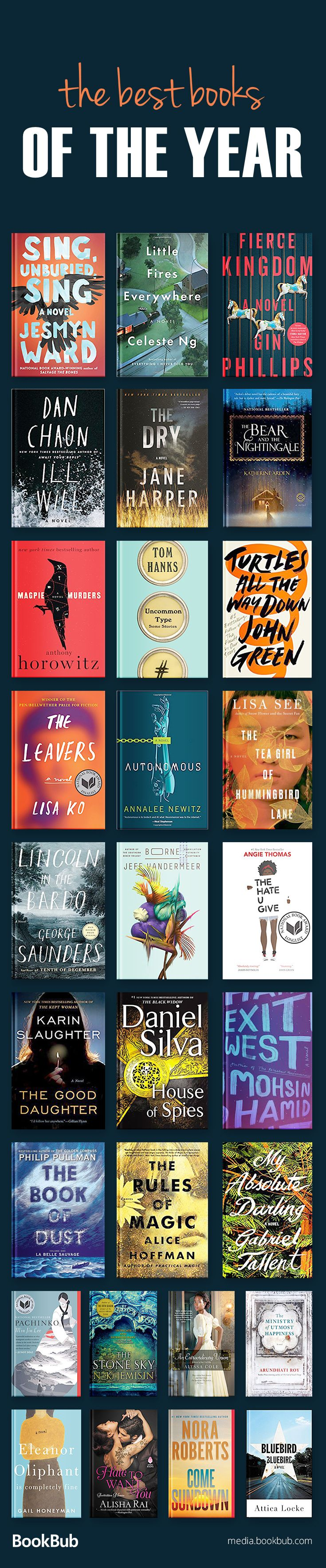 The best books of 2017, including books to read in 2018, books for 20 somethings, and some of the best books of all time!