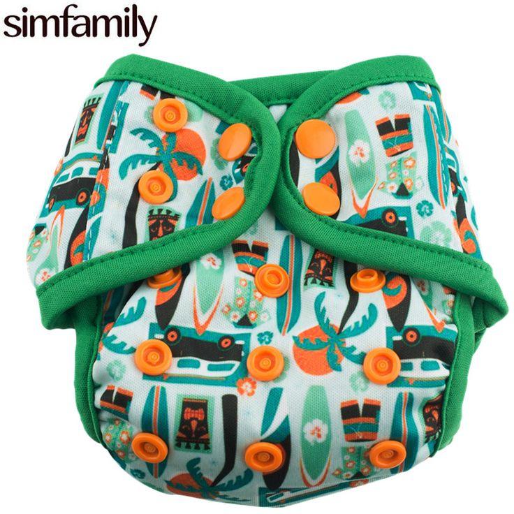 [Simfamily] 1 قطعة يمكن للماء حفاضات المولود الجديد غطاء ألواح التقويه مزدوجة الملونة المفاجئة ، صالح 3-5kgs و 0-3 أشهر ، بالجملة بيع