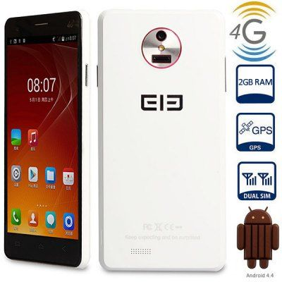Wholesale Elephone P3000S 2GB RAM Android 4.4 Smartphone 4G LTE Phablet 5.0 inch HD IPS OGS Screen MTK6592 + MTK6290 Octa Core 1.7GHz 16GB ROM 13.0MP Camera NFC (2GB WHITE) | Everbuying