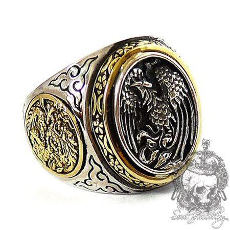 Men's ring Japanese Phoenix & Dragon