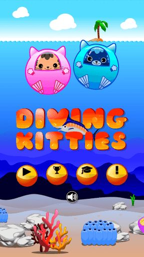 Join feline diving experts, Kaikai and Jinjin, on an undersea fishing expedition! Catch as many fishes as possible until they run out of health! While common fishes like Dory, Sea Bass, Snapper can fetch some decent gold, precious and rare fish like the Blue Merlin, Golden Arowana and Walking Fish can net some BIG money! Avoid dangerous fishes like Shark, Angler and Puffer Fish until you've the invincible powe-up!<p>Diving Kitties is the underwater version of your favorite runner game. Swim…